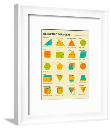 Geometric Formulas-Jazzberry Blue-Framed Art Print