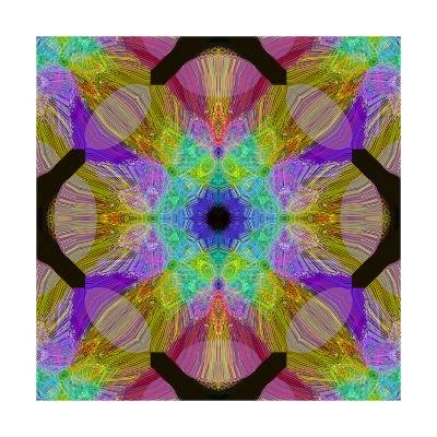 Geometric Fountain Mandala-Alaya Gadeh-Art Print