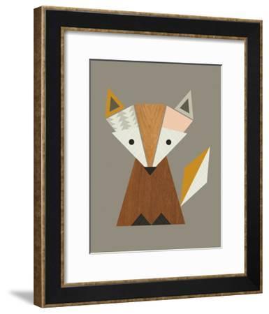 Geometric Fox-Little Design Haus-Framed Art Print