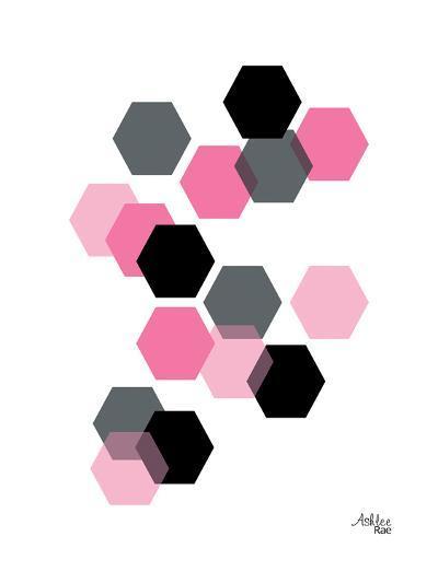 Geometric Hexagon-Ashlee Rae-Art Print