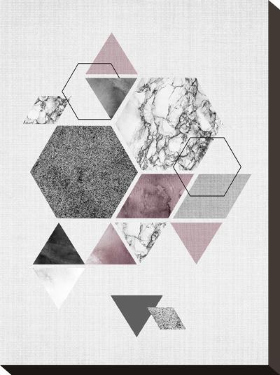 Geometric Hexagons-LILA X LOLA-Stretched Canvas Print