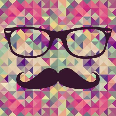 Geometric Hipster Face-cienpies-Art Print