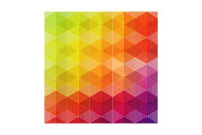 Geometric Hipster Retro Background-Click Bestsellers-Art Print