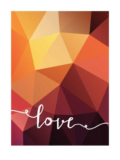Geometric Love Orange--Art Print
