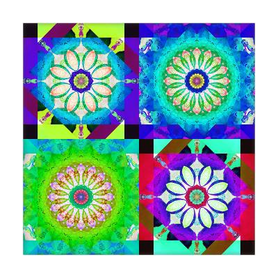 Geometric Mandala Quatrain-Alaya Gadeh-Art Print