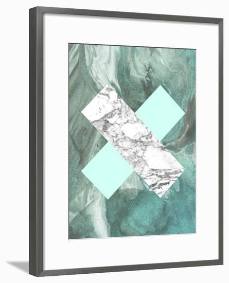 best authentic 6a501 f7a20 Geometric Marble X Framed Art Print by LILA X LOLA | Art.com