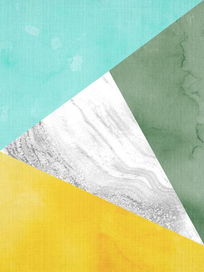 Geometric Mint Yellow-LILA X LOLA-Art Print