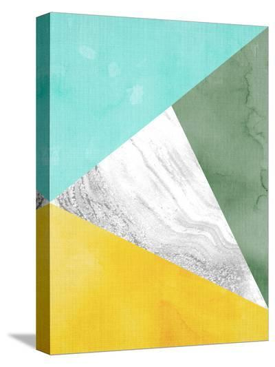 Geometric Mint Yellow-LILA X LOLA-Stretched Canvas Print