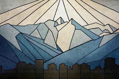 Geometric Mountain-Anna Polanski-Art Print
