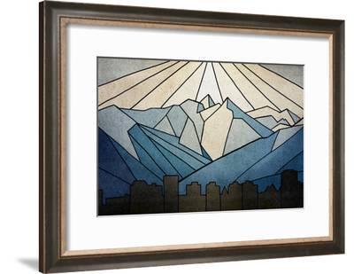 Geometric Mountain-Anna Polanski-Framed Art Print