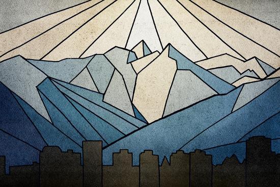 Geometric Mountain-Anna Polanski-Premium Giclee Print