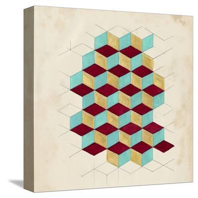 Geometric Pattern Play II-Naomi McCavitt-Stretched Canvas Print