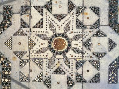Geometric Patterns, Detail of Presbytery Floor, Cathedral Dedicated to Santa Maria Nuova, Monreale--Giclee Print