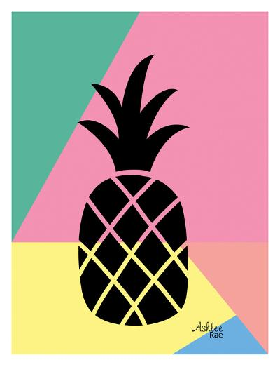 Geometric Pineapple-Ashlee Rae-Art Print