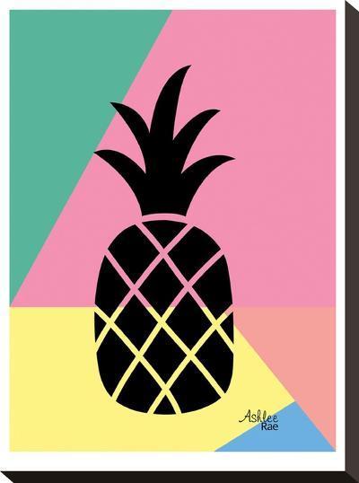 Geometric Pineapple-Ashlee Rae-Stretched Canvas Print