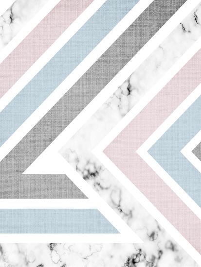 Geometric Pink Blue-LILA X LOLA-Art Print