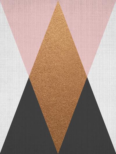 Geometric Pink Bronze-LILA X LOLA-Art Print