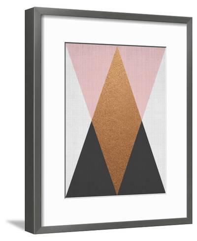 Geometric Pink Bronze-LILA X LOLA-Framed Art Print
