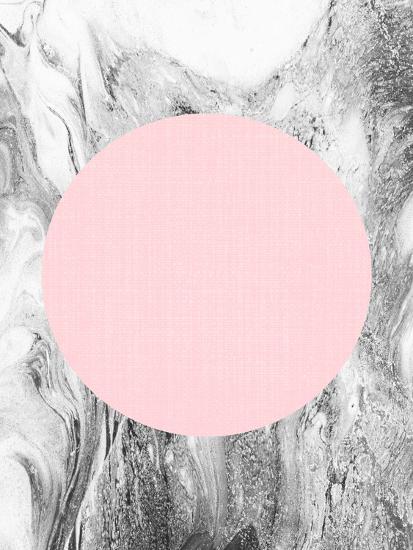 Geometric Pink Grey-LILA X LOLA-Art Print