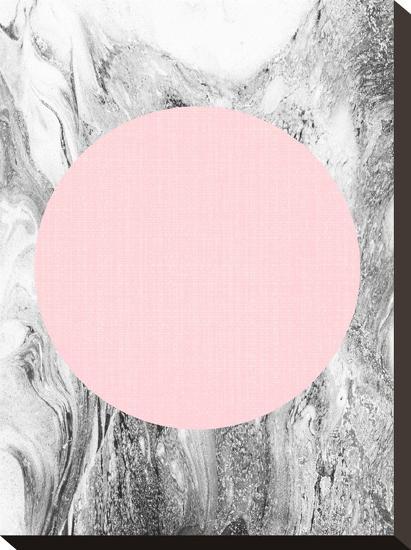 Geometric Pink Grey-LILA X LOLA-Stretched Canvas Print