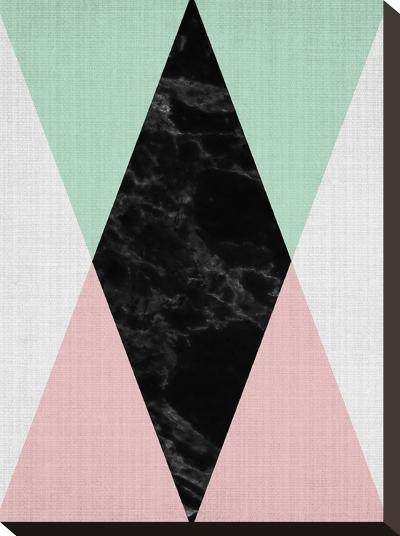 Geometric Pink Mint-LILA X LOLA-Stretched Canvas Print