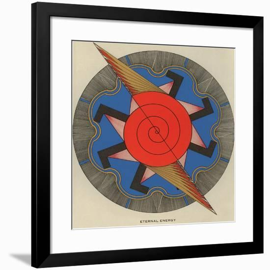 Geometric Representation of Eternal Energy--Framed Art Print