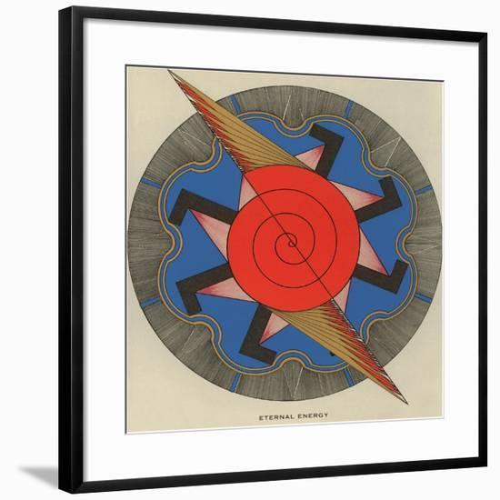 Geometric Representation of Eternal Energy--Framed Art Print