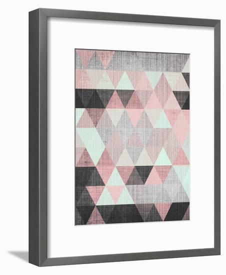 Geometric Small Framed Art Print by LILA X LOLA | Art.com