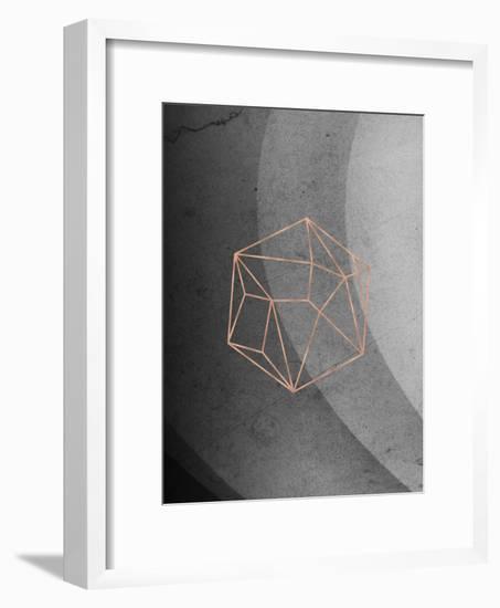 Geometric Solids On Marble-Emanuela Carratoni-Framed Art Print