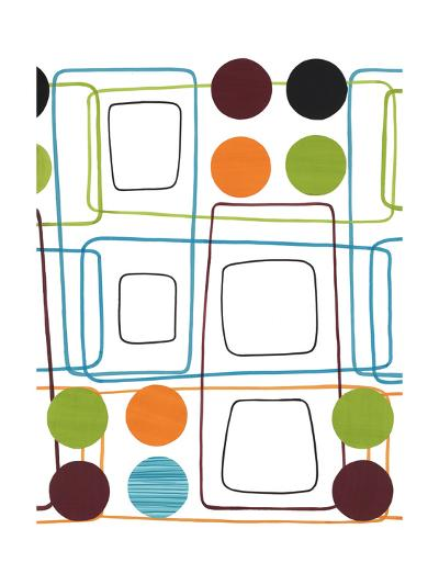 Geometric Squares and Dots--Art Print