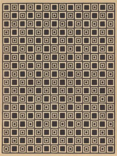 Geometric Tan and Black Patterns--Art Print