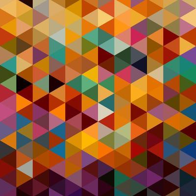 Geometric Triangle Pattern-cienpies-Art Print