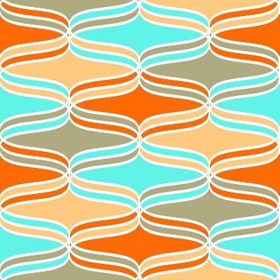 Geometric Wavy Lines Pattern- klivenkova-Art Print