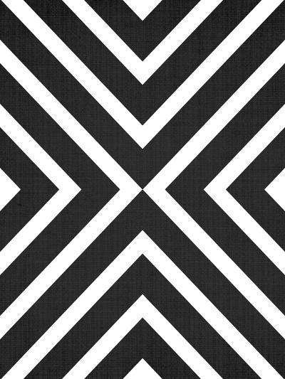 Geometric White Black-LILA X LOLA-Art Print