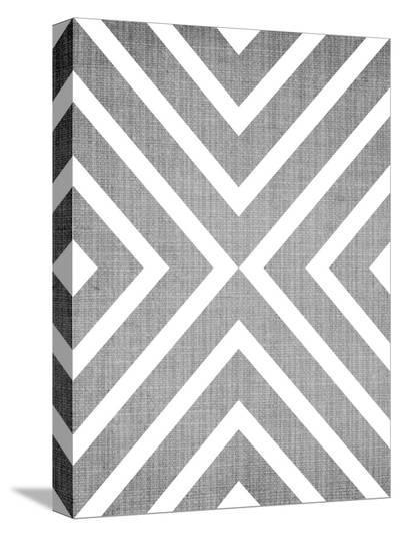 Geometric White Grey-LILA X LOLA-Stretched Canvas Print