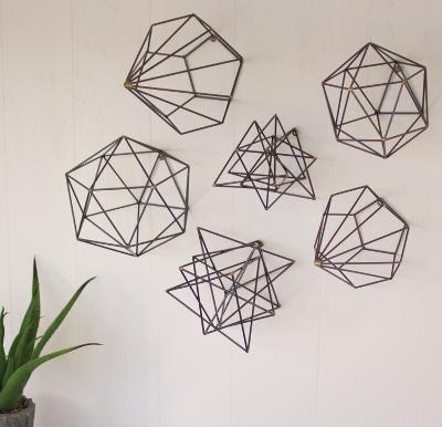 Geometric Wire Art Set--Home Accessories