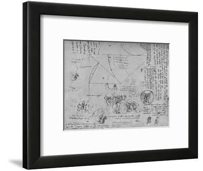 'Geometrical Figures and Designs for Allegorical Representations', c1480 (1945)-Leonardo da Vinci-Framed Giclee Print