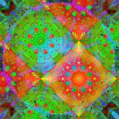 Geometrical Ornament of Flower Photos-Alaya Gadeh-Photographic Print