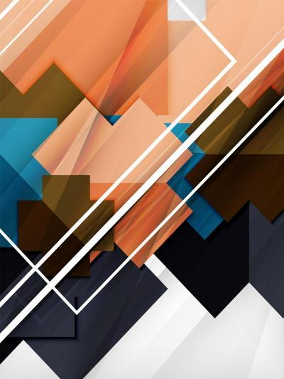 Geometrical Shape Abstract Background. for Business Background   Numbered Banners   Business Lines-antishock-Art Print