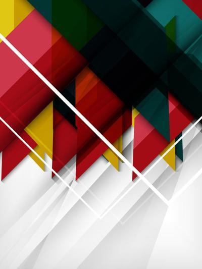 Geometrical Shape Abstract Background. for Business Background | Numbered Banners | Business Lines-antishock-Art Print
