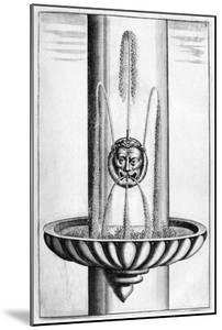 Ornamental Fountain Design, 1664 by Georg Andreas Bockler