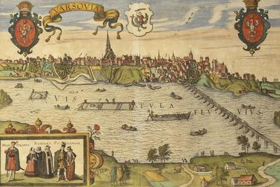 Warsaw from Civitates Orbis Terrarum