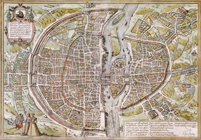 Paris Map, 1581
