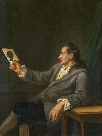 Portrait of Johann Wolfgang Goethe Holding a Silhouette, 1775-76