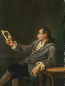 Portrait of Johann Wolfgang Goethe Holding a Silhouette, 1775-76 by Georg Melchior Kraus