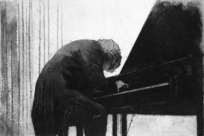 John Ogdon at the Piano in the Great Hall, Exeter University, 1979