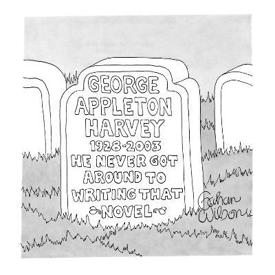 George Appleton Harvey - New Yorker Cartoon-Gahan Wilson-Premium Giclee Print