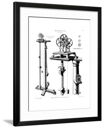 George Atwood's Machine for Demonstrating the Effect of Gravity on Falling Bodies, C1780--Framed Giclee Print