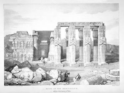 Ruins of the Memnonium at the Cemetery of Thebes, C1800-1870