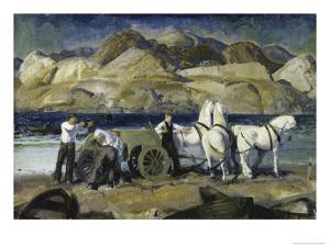 Sand Team, c.1917 by George Bellows